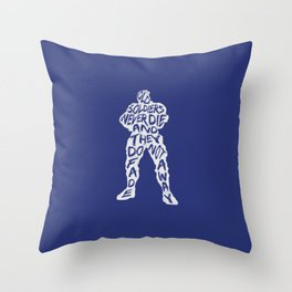 Soldier 76 Type illustration Throw Pillow