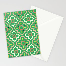 Medallions - Emerald Stationery Cards