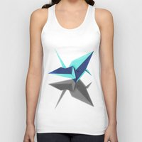 origami Tank Tops featuring Origami by Red 99