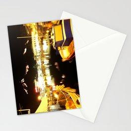 Port Of Myrina At Night Stationery Cards
