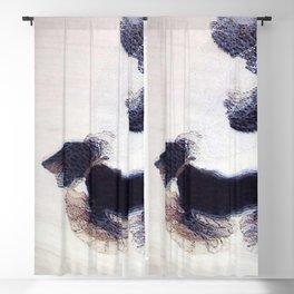 Woman Walking a Dog on a Leash Blackout Curtain