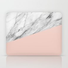 Marble and pale dogwood color Laptop & iPad Skin