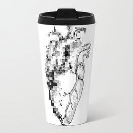 Pixel Heart Drawing Design Travel Mug