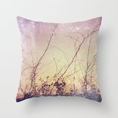 sea plants (purple) Throw Pillow