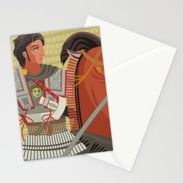 alexander the great mosaic riding a horse Stationery Cards
