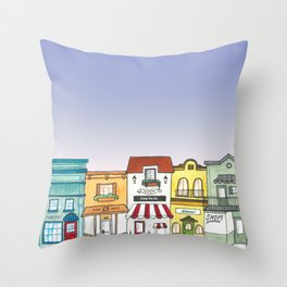 Shops Throw Pillow