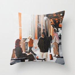 Orange Souk Throw Pillow