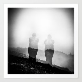 Mount Untersberg - Austrian Alps Holga Black and White Photo Art Print