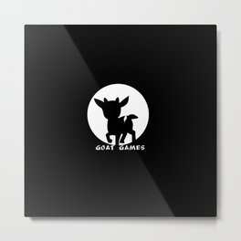 Goat Games Black&White Metal Print