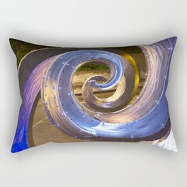 Salmon Waves Sculpture Rectangular Pillow