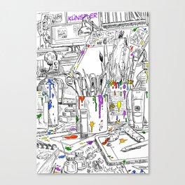 Artist - Künstler Canvas Print