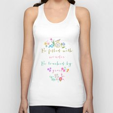 be filled with wonder Unisex Tank Top