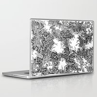 anxiety Laptop & iPad Skins featuring Anxiety by Timm Sewell