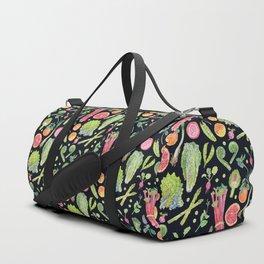 Spring Harvest Pattern Dark Duffle Bag