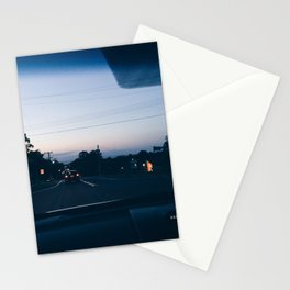 Driving into the sunset Stationery Cards