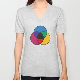 Matthew Luckiesh: The Subtractive Method of Mixing Colors (1921), re-make, interpretation Unisex V-Neck