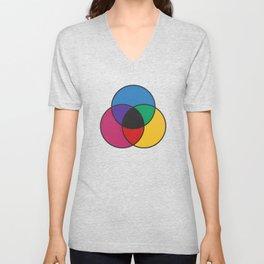 Matthew Luckiesh: The Subtractive Method of Mixing Colors (1921), re-make, interpretation Unisex V-Neck