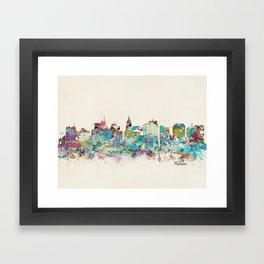 Madison Wisconsin skyline Framed Art Print