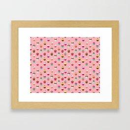 Tasty Cupcake Pattern Framed Art Print