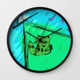 Magnus in Space Wall Clock