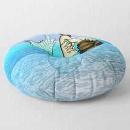 Melancholy Merman Floor Pillow