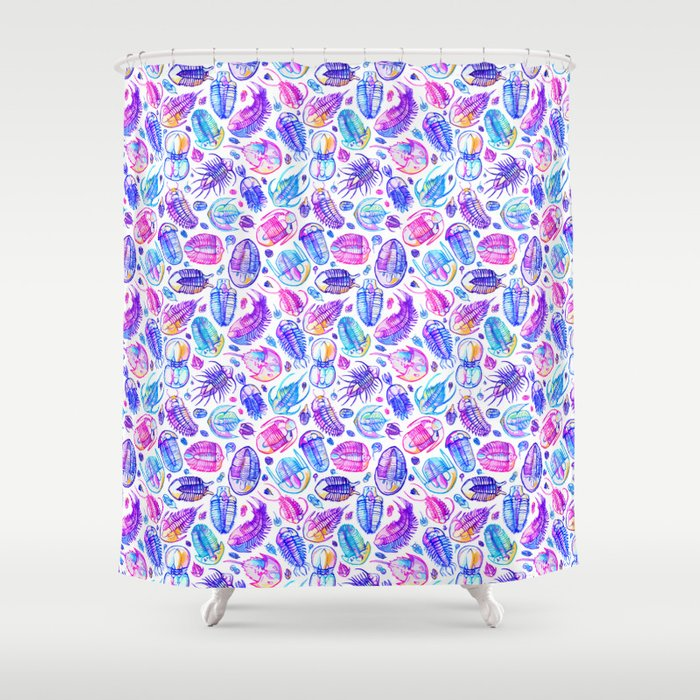 Vibrant Trilobita Shower Curtain