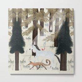the fox and unicorn Metal Print
