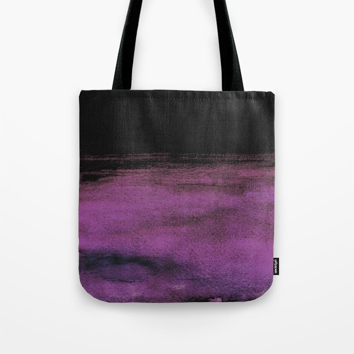 Purple and Black Tote Bag