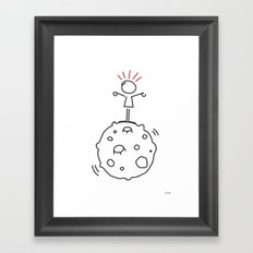 juri on the moon Framed Art Print