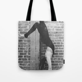 Yogic Handstand Tote Bag