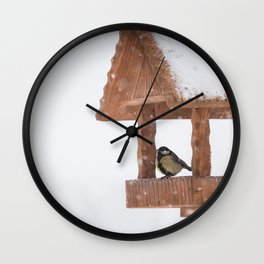 Parus Major bird Wall Clock