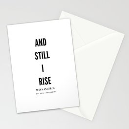 And, Still I Rise | Maya Angelou Quote Stationery Cards