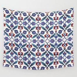Iznik Tile Pattern Red Blue White Green Wall Tapestry