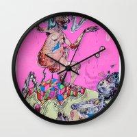 gemini Wall Clocks featuring gemini by Kira Leigh