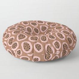 Raw brush minimal fruit garden abstract circle pattern Floor Pillow