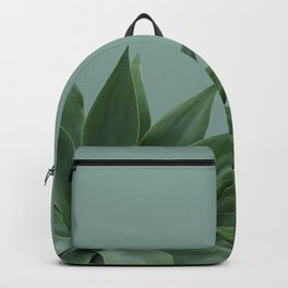 two big Agave leaves green Backpack