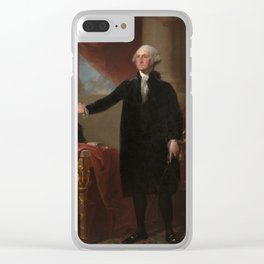Gilbert Stuart - George Washington (Lansdowne Portrait) Clear iPhone Case