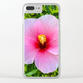 Flower Bloom Pink Clear iPhone Case