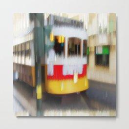 Tram Prazeres Lisbon Metal Print