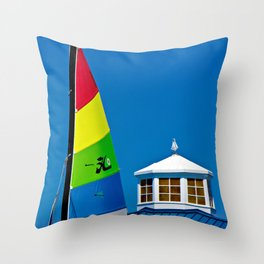 Hobie Sail Throw Pillow