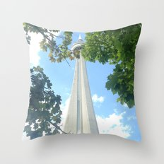 I Spy the CN Tower  Throw Pillow