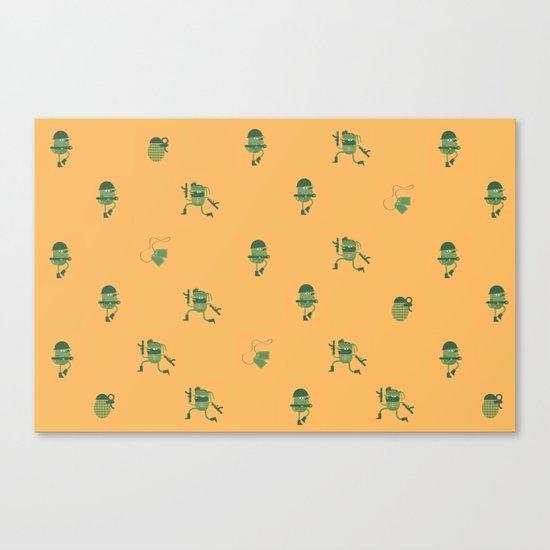 "Movie Patterns - ""Tuesday War"" Canvas Print"