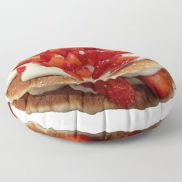pancakes_strawberries_and_whip_cream Floor Pillow
