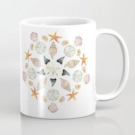 Florida Beachcombing Mandala 1 - Watercolor Coffee Mug