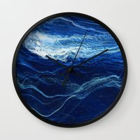 pocket Wall Clocks featuring pocket weather by j.Webster