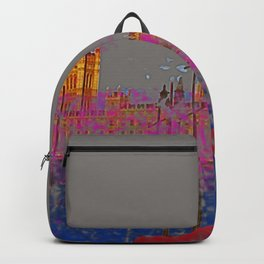 The Siege of the Parliament in May - shoes stories Backpack