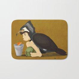 Little Black Cormorant Bath Mat