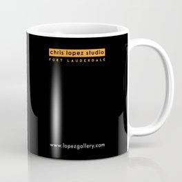 Male face duotone digital illustration Coffee Mug