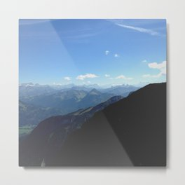Swiss Alpes Metal Print