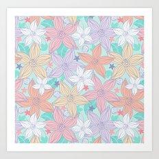Dancing Spring flowers Art Print
